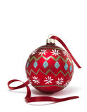 Bauble with Ribbon Royalty Free Stock Image