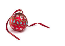 Bauble with Ribbon Stock Image