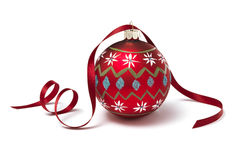 Bauble with Ribbon Stock Photo