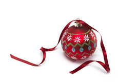 Bauble with Ribbon Royalty Free Stock Images