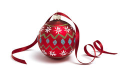 Bauble with Ribbon Stock Photography