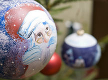 Bauble Santa Stock Photo
