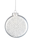 Bauble with snowflake. Christmas ornament on a white background Stock Images