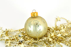 Bauble with stars Royalty Free Stock Photos