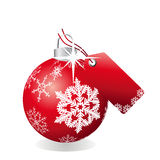 Bauble with tag Royalty Free Stock Photos