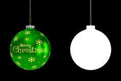 Bauble verde Foto de Stock Royalty Free