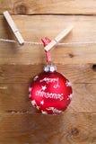 Bauble vermelho colorido do Feliz Natal Foto de Stock Royalty Free