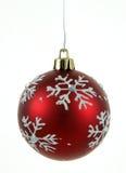 Bauble vermelho do floco de neve Fotos de Stock Royalty Free
