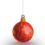Bauble vermelho do Natal imagens de stock royalty free