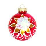 Bauble vermelho do Natal. foto de stock