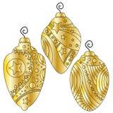 Bauble złota kolekcja Obraz Stock