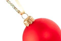baublejul som hänger red Royaltyfria Foton