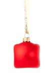 baublejul som hänger red Royaltyfri Fotografi