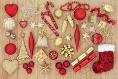 Baubles и украшения рождества Стоковое Изображение RF