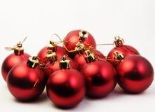 baubles красные стоковые фото