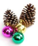 baubles праздничные стоковое изображение rf