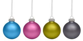 Baubles рождества изолированные на белизне Стоковое фото RF