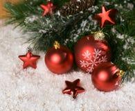 Baubles рождества Стоковые Изображения