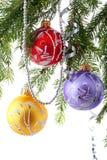 Baubles рождества стоковое фото