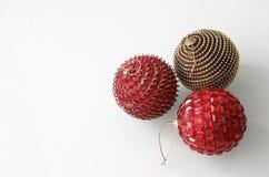 3 baubles рождества стоковые изображения rf
