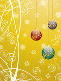 Baubles. Vector christmas pattern with baubles Royalty Free Stock Image