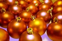 Baubles alaranjados Foto de Stock Royalty Free
