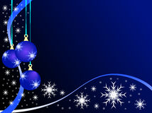 Baubles azuis do Natal ilustração stock
