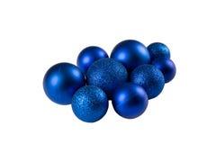 Baubles azuis do Natal Foto de Stock