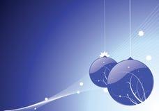 baubles błękit boże narodzenia ilustracja wektor