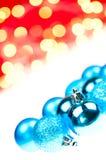 baubles błękit boże narodzenia Fotografia Royalty Free