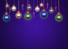 Baubles on bauble. Various baubles on bauble background Royalty Free Stock Image