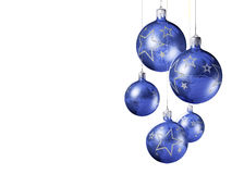 baubles bożych narodzeń dekoracyjny elegancki odosobniony Zdjęcie Royalty Free