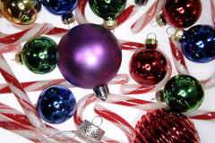 Baubles & Candy canes Stock Image