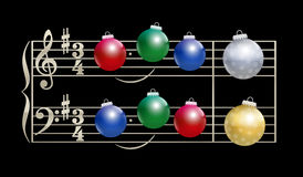 Baubles Christmas Song Musical Notation Stock Image