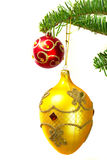 Baubles on the Christmas tree Royalty Free Stock Photos