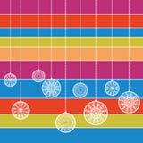 Baubles coloridos Ilustração do Vetor