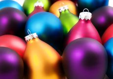 Baubles coloridos do Natal Imagens de Stock