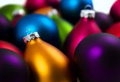 Baubles coloridos do Natal Imagem de Stock Royalty Free