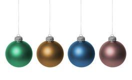 Baubles coloridos do Natal Fotografia de Stock Royalty Free