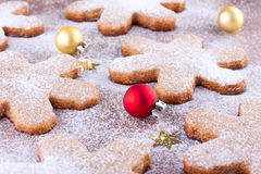 Baubles and cookies Royalty Free Stock Photography