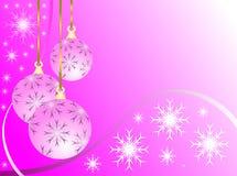 Baubles cor-de-rosa do Natal ilustração stock