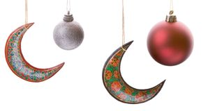 Baubles and Crescents Stock Photo