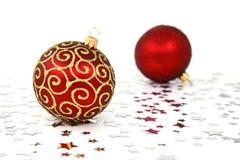 Baubles da árvore de Natal Imagem de Stock Royalty Free