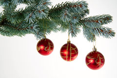 Baubles da árvore de Natal Imagens de Stock Royalty Free