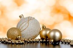 Baubles da esfera do Natal Fotos de Stock