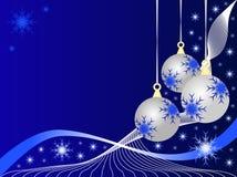 Baubles de prata do Natal ilustração do vetor