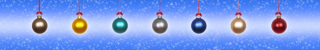 Baubles de suspensão do Natal imagem de stock royalty free