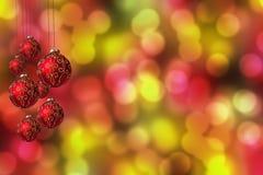 Baubles de suspensão do Natal Fotos de Stock Royalty Free