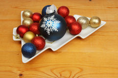Baubles in dish Stock Image