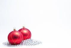Baubles do Natal Fotografia de Stock Royalty Free